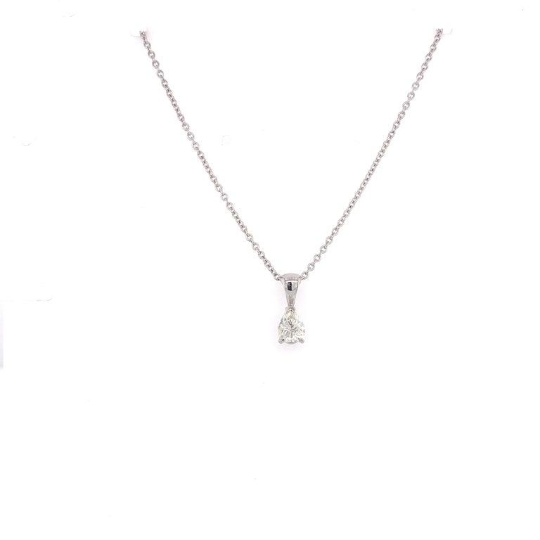 Pear Cut Certified Pear Shaped Diamond Pendant Necklace