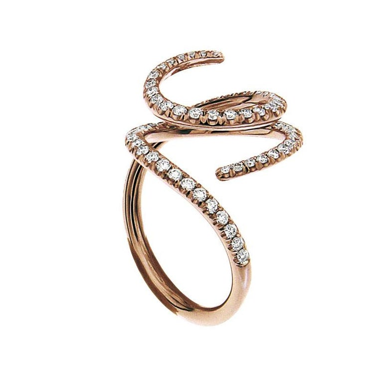 Certified Ring Pink Gold with Diamonds and a set of Three Interchangeable Gems In New Condition For Sale In Brussel, BE