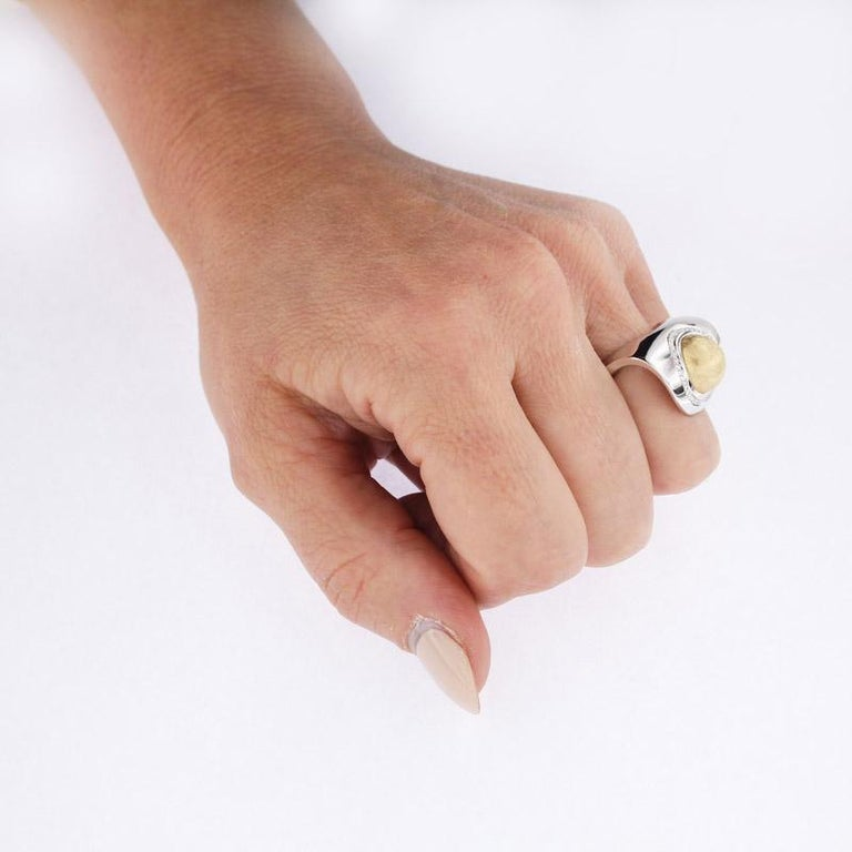 Certified Ring White Gold with Diamonds and a Set of Three Interchangeable Gems For Sale 4