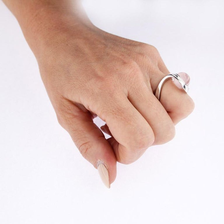 Certified Ring White Gold with Diamonds and a Set of Three Interchangeable Gems For Sale 12