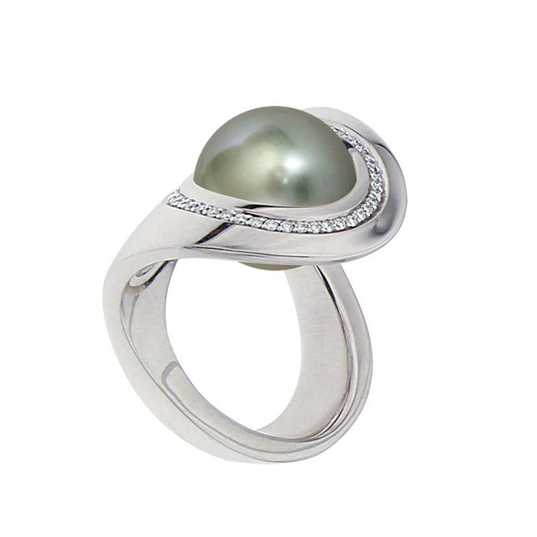 Contemporary Certified Ring White Gold with Diamonds and a Set of Three Interchangeable Gems For Sale