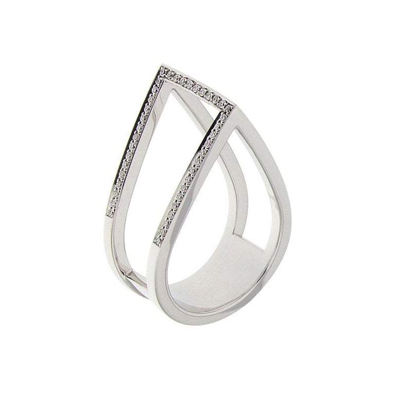 Certified Ring White Gold with Diamonds and a Set of Three Interchangeable Gems In New Condition For Sale In Brussel, BE