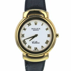 Certified Rolex Cellini 6622 18 Karat Yellow Gold Case Quartz Watch