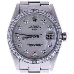 Certified Rolex Date 1501 Mother of Pearl Dial