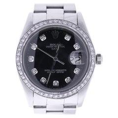 Certified Rolex Date 6694 Black Dial