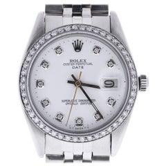 Certified Rolex Date 6694 White Dial