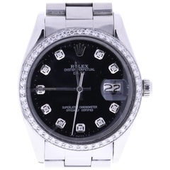 Certified Rolex Datejust 6694 Black Dial