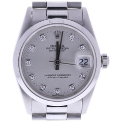 Certified Rolex Datejust 68246 Silver Dial