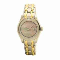 Certified Rolex DateJust Pearl Master 80329 Two-Tone Women's