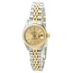 Certified Rolex Datejust Women's Automatic Watch Champagne Dial Two-Tone SS