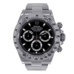 Certified Rolex Daytona Stainless Steel Black Dial Watch 116520