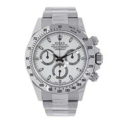 Certified Rolex Daytona Stainless Steel White Dial Watch 116520