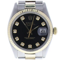 Certified Rolex Oyster Perpetual Date 34 Black Dial Oyster Bracelet Automatic