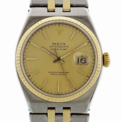 Certified Rolex Oysterquartz 17013 with Band and Gold Dial