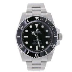 Certified Rolex Submariner Stainless Steel Black Ceramic Watch 116610