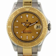 Certified Rolex Yacht-Master 68623 with Band and Gold Dial