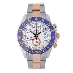 Certified Rolex Yacht-Master II Steel and 18 Karat Rose Gold Watch 116681