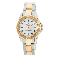 Certified Rolex Yacht-Master with Band, Yellow-Gold Bezel and White Dial