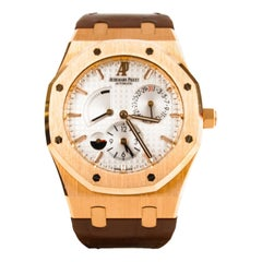 Certified: Royal Oak Dual Time Rose Gold White Dial 26120OR.OO.D088CR.01