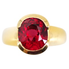 Certified Untreated Spinel Ring is the Red You Want from Ruby but Can't Find
