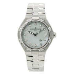 Certified Vacheron Constantin Ladies Overseas 25750 Quartz Factory Diamond Bezel