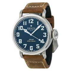 Certified Zenith Pilot 03.2430.3000 Men's Automatic Watch SS Black Dial