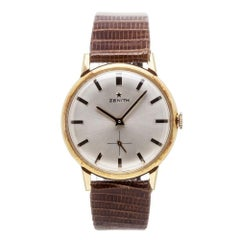 Certified Zenith Vintage with Band, Yellow-Gold Bezel and White