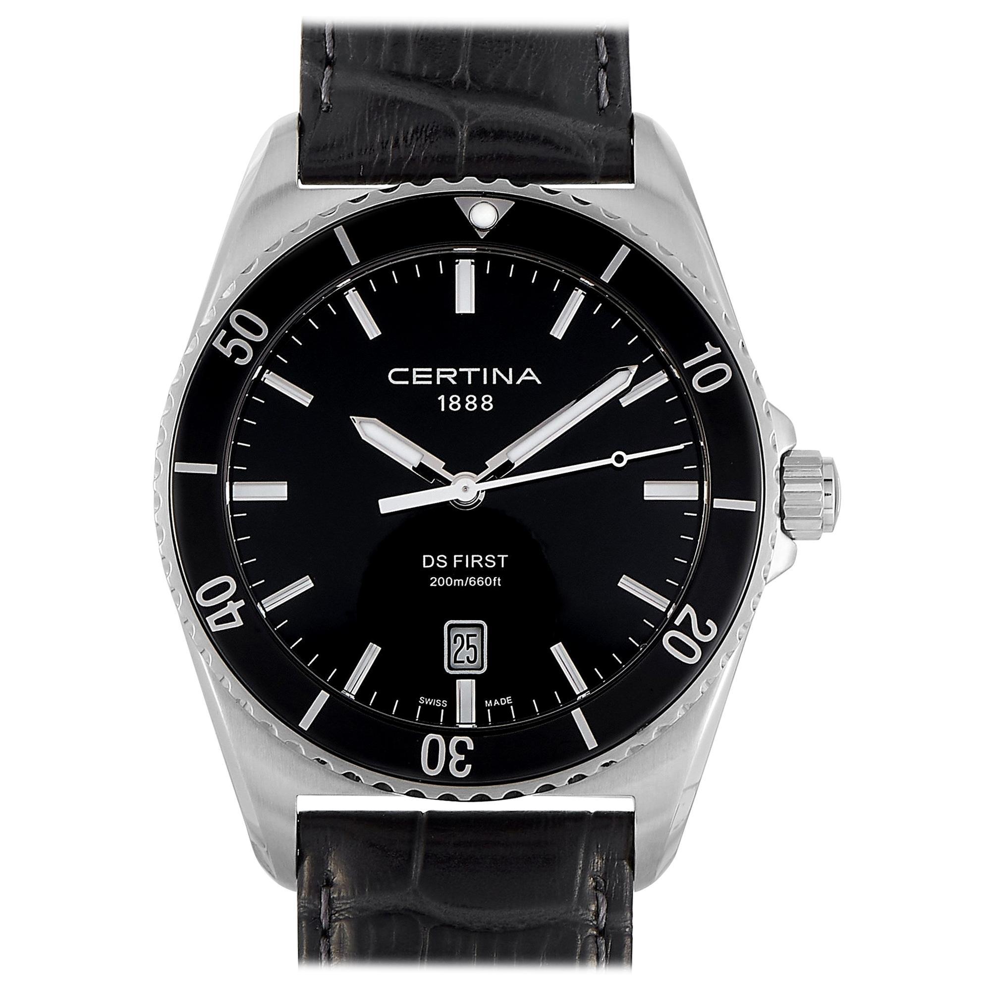 Certina DS First Ceramic Black Leather Men's Watch C014.410.16.051.00