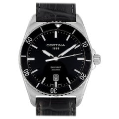 Certina DS First Ceramic Black Leather Men's Watch C014.410.16.051.00