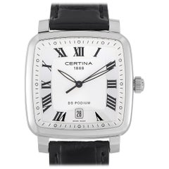 Certina DS Podium Silver Dial Black Leather Men's Watch C025.510.16.033.00