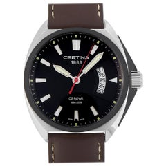 Certina DS Royal Black Dial Men's Brown Leather Watch C010.410.16.051.00