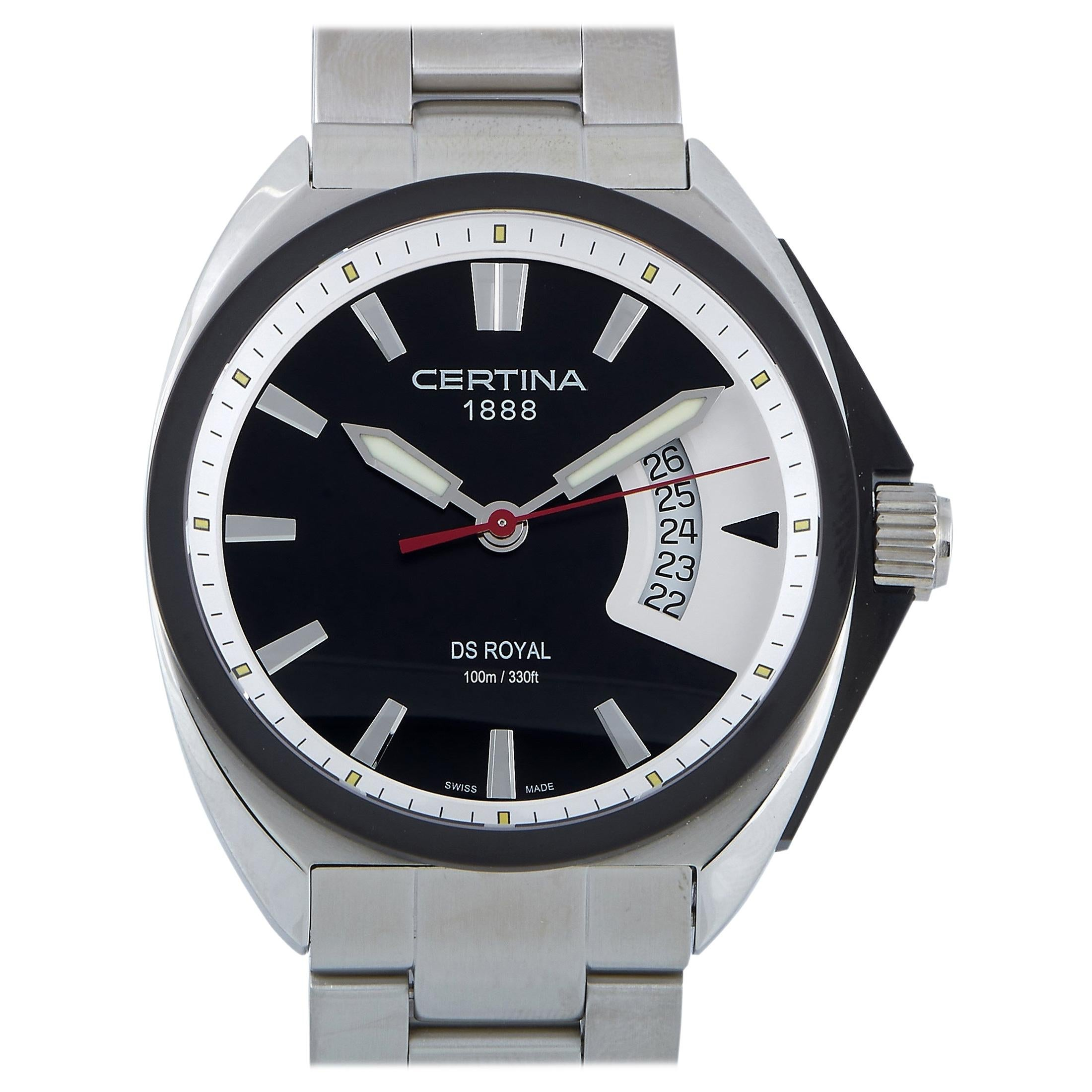Certina DS Royal Quartz Black Dial Men's Watch C010.410.11.051.00