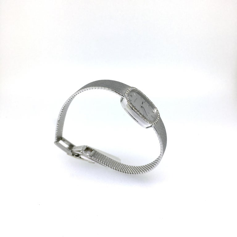 Women's Watch, White Gold, Diamonds, Lady, Certina, Bracelet Watch, Vintage, 1983