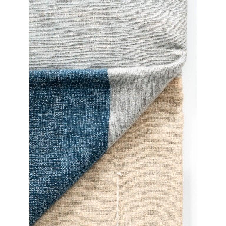 Modern CERU Handloom Throw or Blanket in Pure Merino For Sale