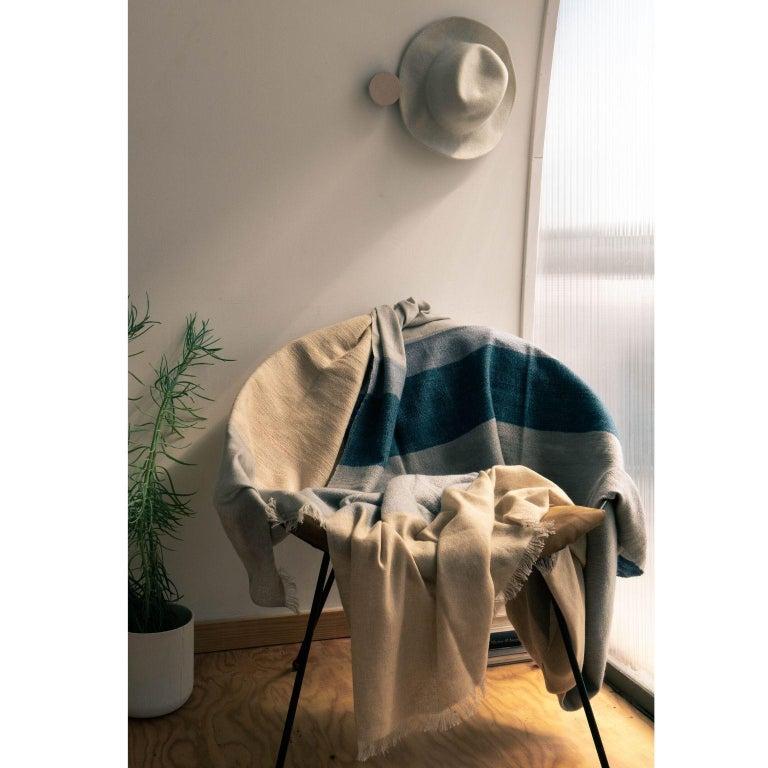Yarn CERU Handloom Throw or Blanket in Pure Merino For Sale