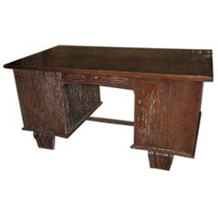 Ceruse Oak Desk Attributed to Maxime Old