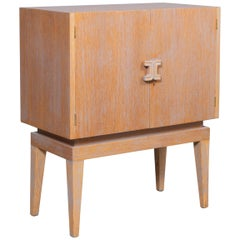 Cerused Art Moderne Bar Cabinet
