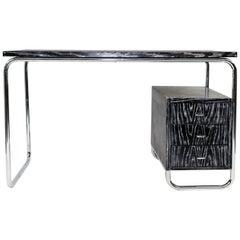 Cerused Desk in the Style of Warren McArthur, circa 1950