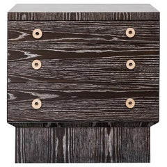 Cerused Oak Aquidneck Nightstand by Brian Paquette for Lawson-Fenning - In Stock