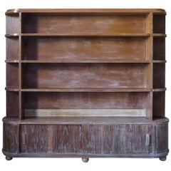 Cerused Oak Bookcase, France, circa 1950s