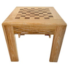 Cerused Oak Chess Table
