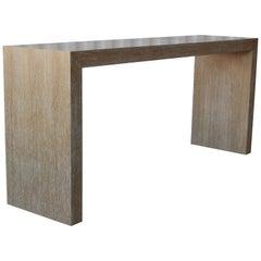 Cerused Oak Console Table
