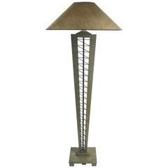 Cerused Oak Floor Lamp after James Mont