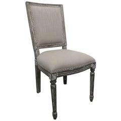 Cerused Oak Side Chair