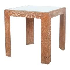 Cerused Oak Side Table France, circa 1940
