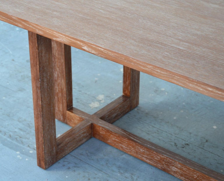 2010s Cerused, Rift-Sawn White Oak Dining Table For Sale