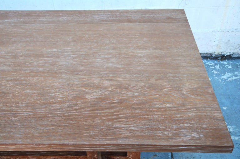 Cerused, Rift-Sawn White Oak Dining Table For Sale 2