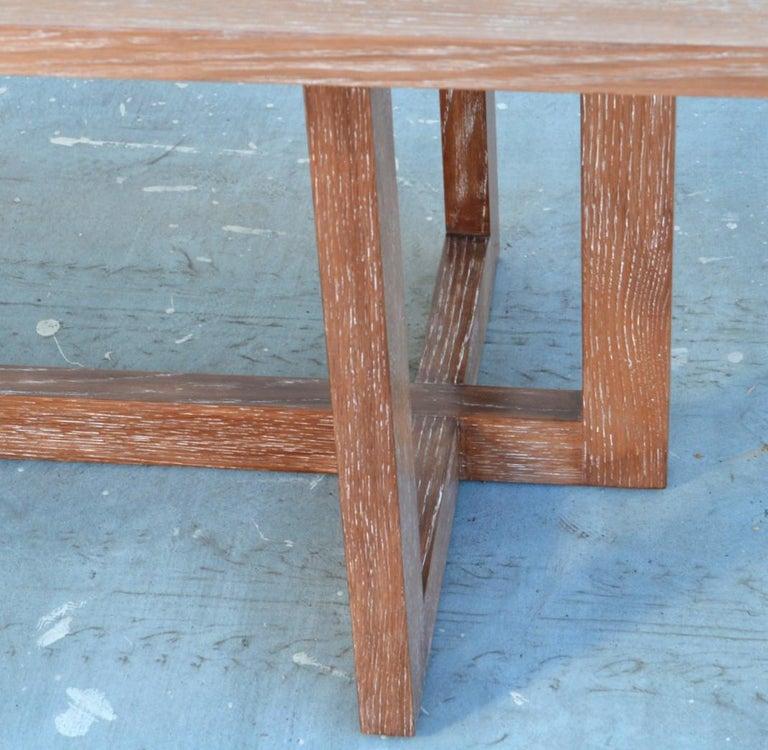 Cerused, Rift-Sawn White Oak Dining Table For Sale 3