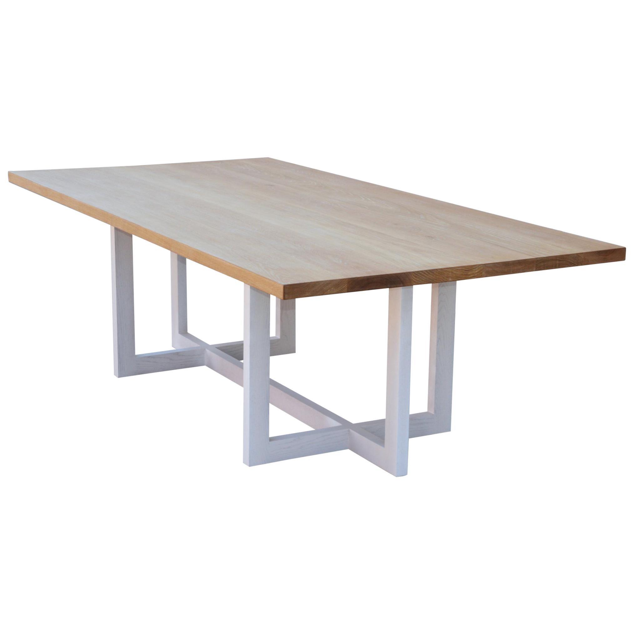 Cerused, Rift-Sawn White Oak Dining Table