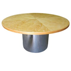 Cerused Round Dining Table